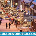 Ciudad de Tromso en Navidad